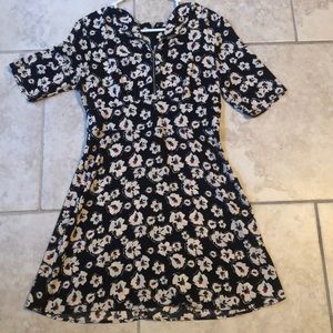 Top Shop London dress- black with floral print